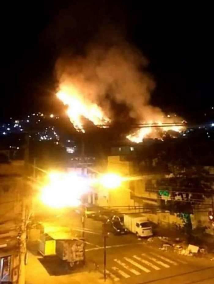 Incêndio atingiu uma grande área da região