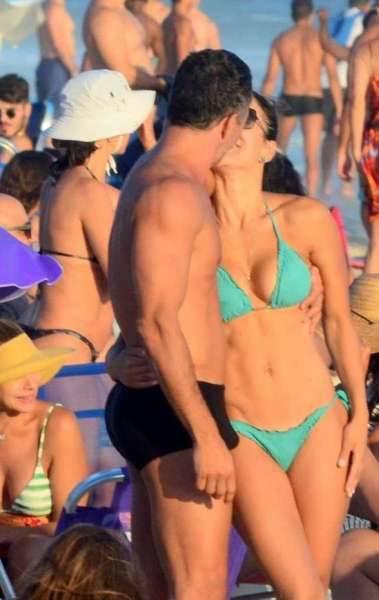Malvino Salvador e Kyra Gracie na Praia da Barra da Tijuca