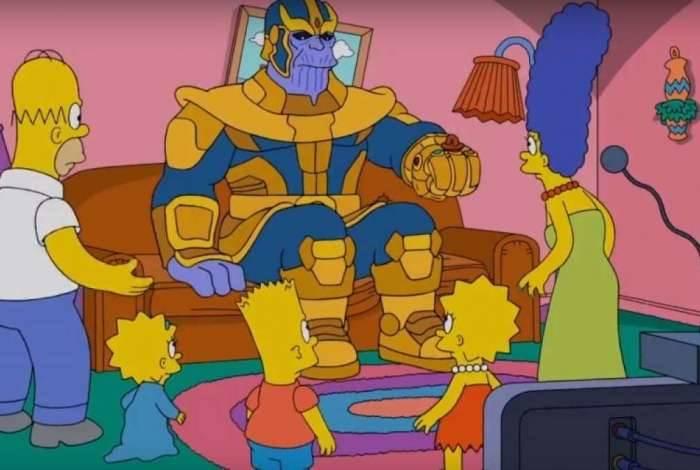 O personagem 'Thanos' dos quadrinhos da Marvel e também o vilão do filme 'Os Vingadores - Guerra Infinita, vai aparecer em um episódio dos Simpsons