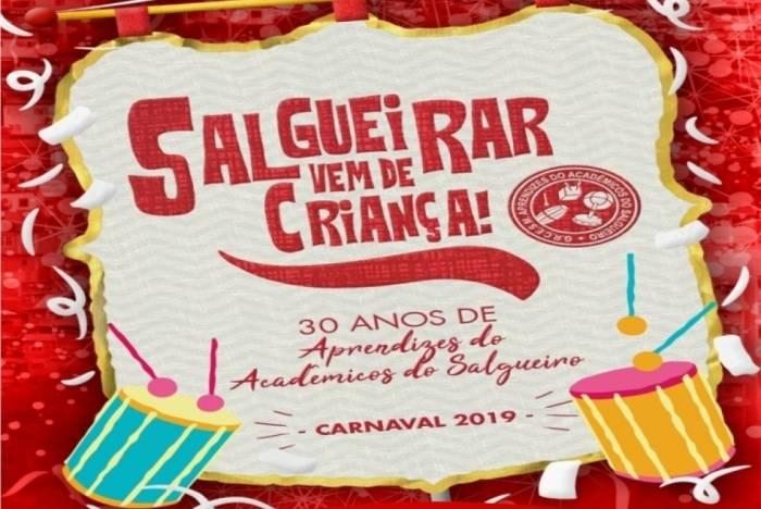 Escola de samba mirim Aprendizes do Salgueiro está com inscrições abertas