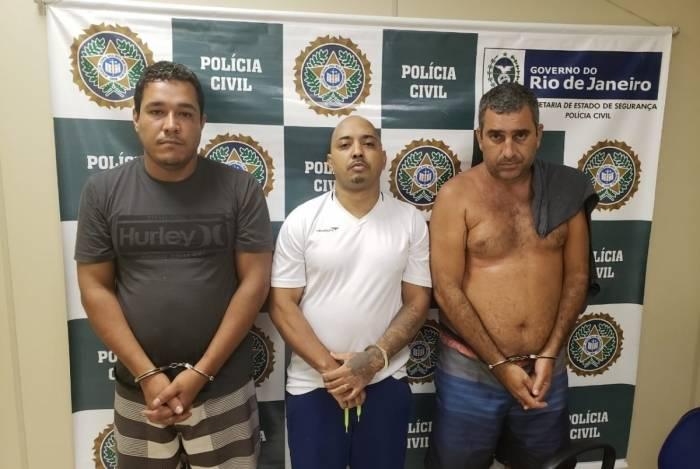 Maxwell, Leandro (de branco) e Carlos Eduardo já estão na prisão