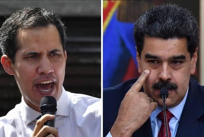 Juan Guaidó e Nicolás Maduro: venezuelanos longe de um acordo