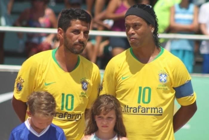 Ronaldinho foi atração de partida