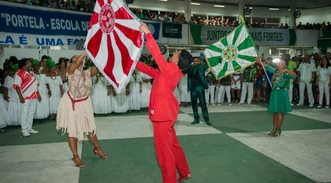 Mestre-Sala e Porta-Bandeira da Acadêmicos do Salgueiro e da Mocidade Independente de Padre Miguel