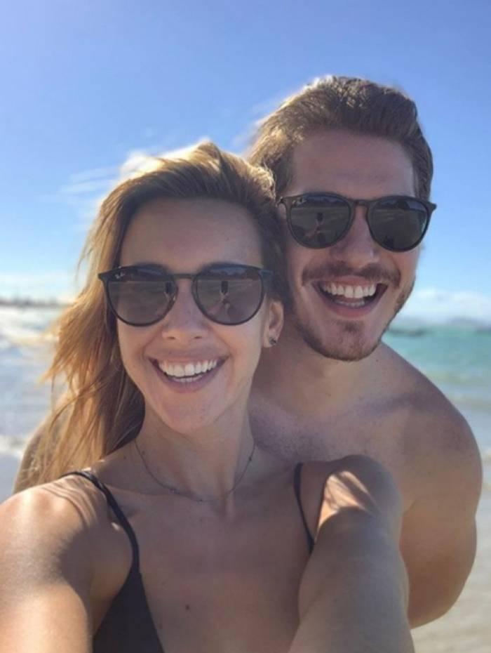 Cris Dias e Caio Paduan namoram em Búzios