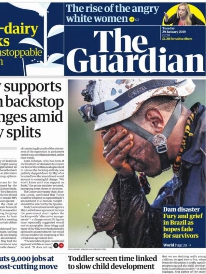 Jornal britânico The Guardian associa desastre por rompimento de barragem com fúria e dor no Brasil