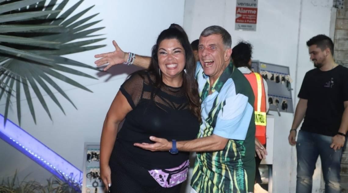 Fabiana Karla e o diretor Jorge Fernando