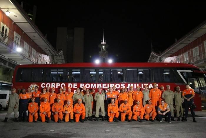 Mais de 40 militares do Corpo de Bombeiros foram para ajudar em resgate de vítimas de Brumadinho