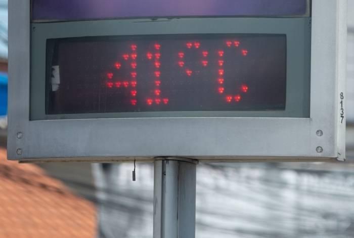 Em Marechal Hermes, Zona Norte, temperatura a tarde chegou a 41°