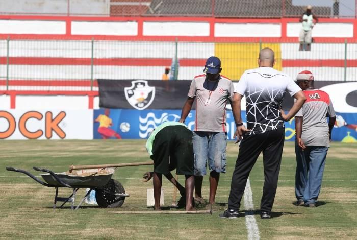 Vasco X Portuguesa se enfrentam pela 4 rodada do Campeonato Carioca no Estadio Maa Bonita em Bangu. Foto: Daniel Castelo Branco / Agncia O Dia