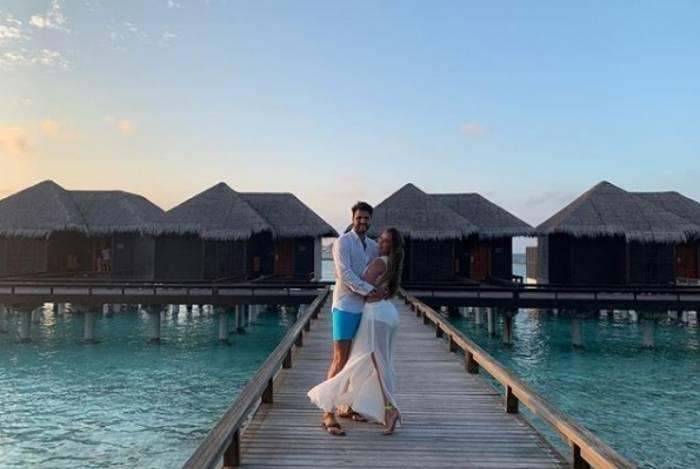 Nicole Bahls e Marcelo Bimbi nas Ilhas Maldivas