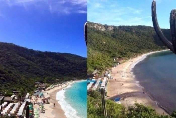 Praia de Arraial do Cabo suja após rompimento de tubulação