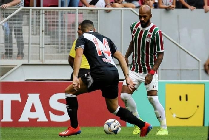 Bruno Silva no jogo com o Vasco