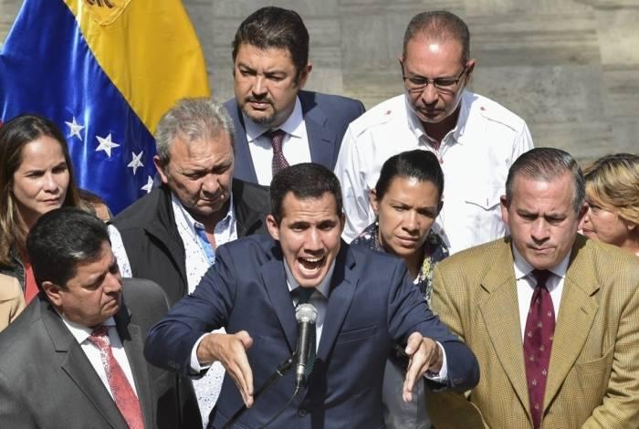 Juan Guaidó em discurso