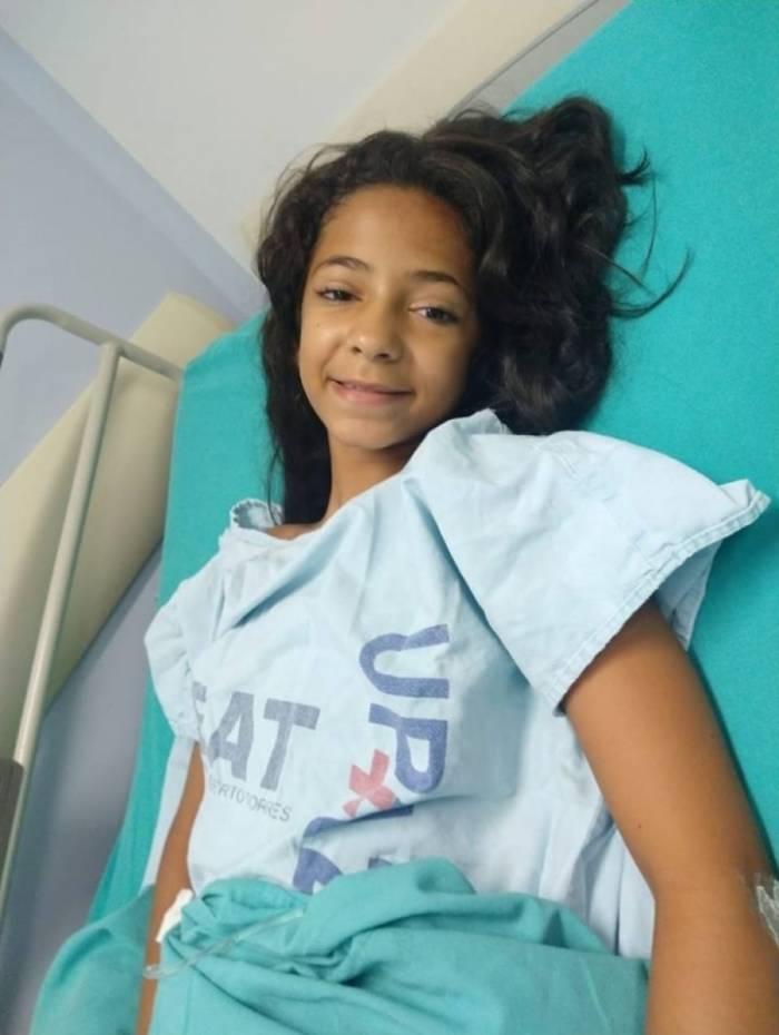 Ana Luiza foi atingida por um tiro nas costas