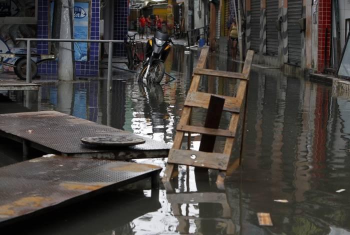 Rio, 05/02/2019 - Chuva deixa ponto de alagamento em Rio das Pedras, Zona Oeste do Rio, nesta ta terça-feira (5) - Foto: Severino  Silva/ Agência O Dia