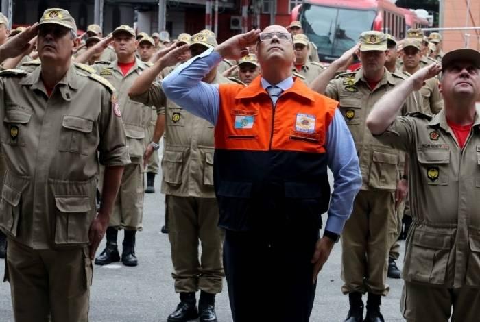 Governador Wilson Witzel na homenagem aos bombeiros que atuaram em Brumadinho e entrega de 10 viaturas para a corporação
