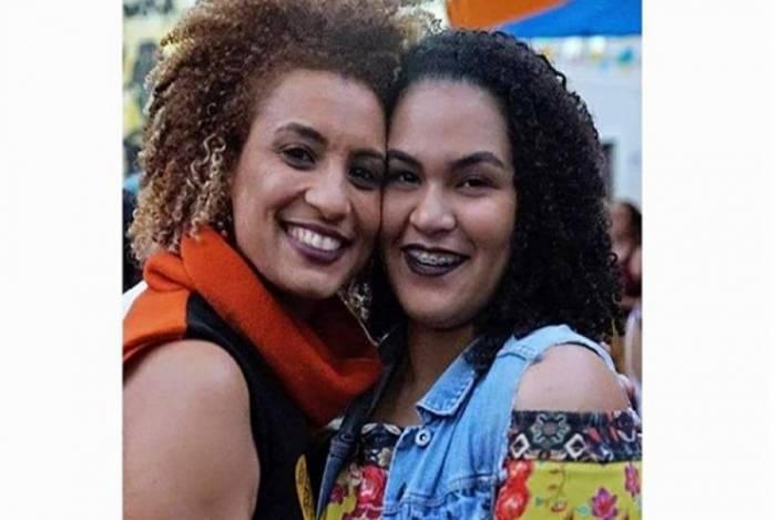 Marielle e a filha, Luyara Santos