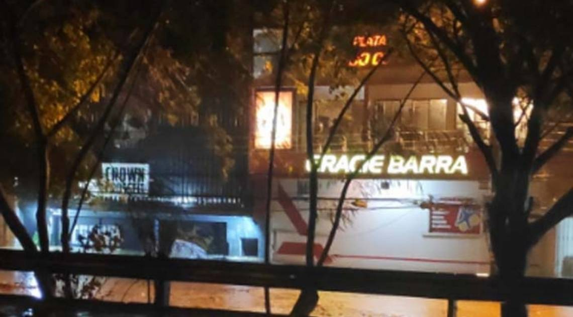 Temporal causou estragos na Barra da Tijuca, na Zona Oeste