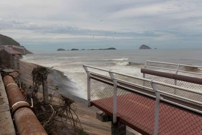 O trecho da ciclovia que caiu na Niemeyer foi perto daquele que desabou em 2016, causando duas mortes