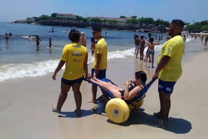 Primeiro passeio, dentro do Projeto Praia para Todos, acontecerá dia 16. A ação é em parceria com a ONG Instituto Novo Ser