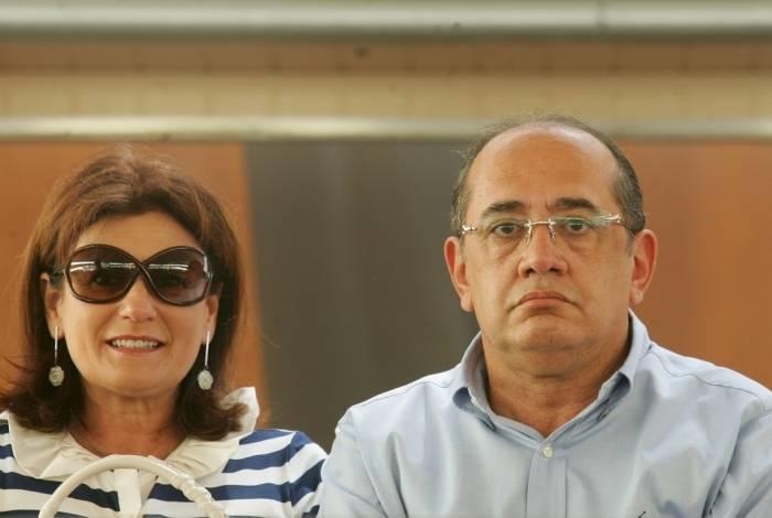 Guiomar e o marido Gilmar Mendes