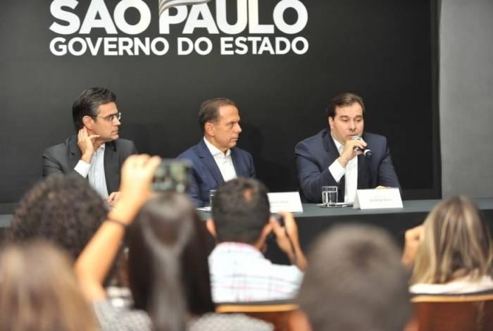 Maia e o governador de São Paulo, Rodrigo Maia, se reuniram para debater a Reforma da Previdência