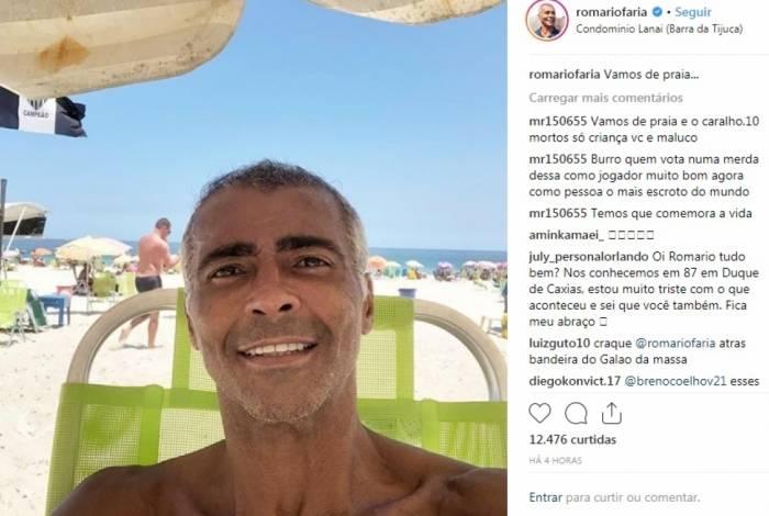 Romário recebeu críticas