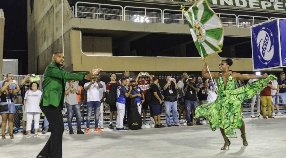 Ensaio técnico da Mocidade Independente de Padre Miguel no sambódromo do Rio de Janeiro