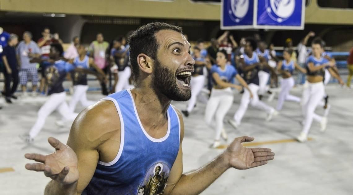 Ensaio técnico da escola de samba Unidos de Vila Isabel na Marquês de Sapucaí