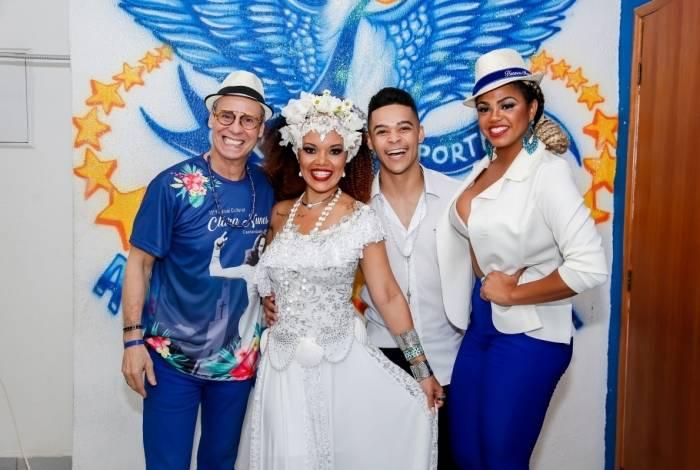 Coreógrafo Carlinhos de Jesus, mestre-sala Marlon Lamar, porta-bandeira Lucinha Nobre e a rainha Bianca Monteiro são algumas das estrelas da Portela