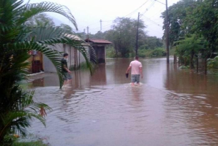 As chuvas em Angra começaram nesta terça-feira