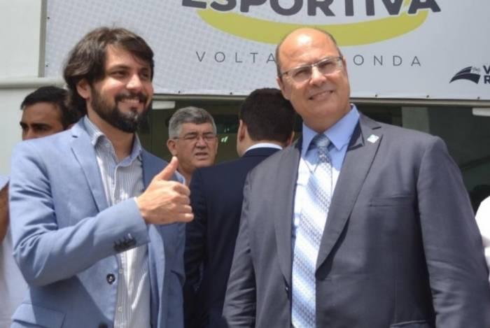 O prefeito de Volta Redonda, Samuca Silva e o governador Wilson Witzel