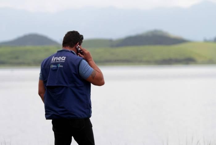 Rio de Janeiro 14/02/2019 -  Vistoria da barragem de Juturnaiba, em Araruama, regiao dos lagos.Foto: Fernanda Dias / Agencia O Dia.