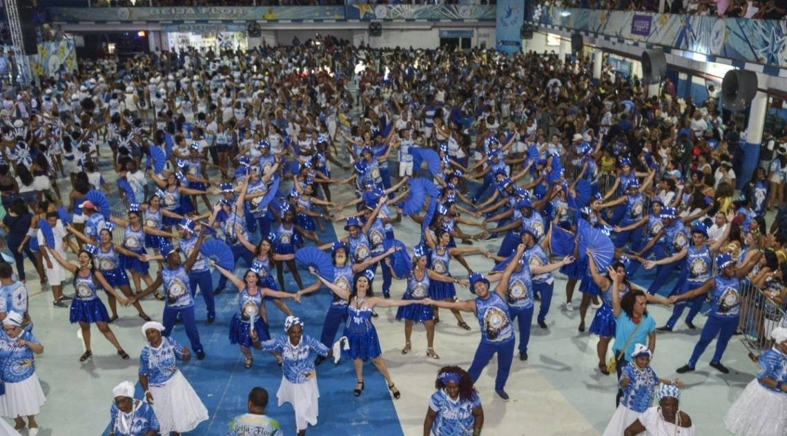 Ensaio da escola de samba Beija-Flor de Nilópolis