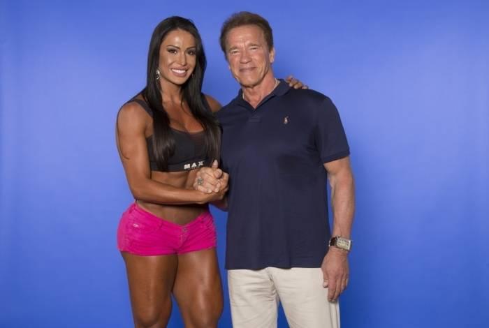 Gracyanne Barbosa diz que trocaria 1 milhão para treinar com Arnold Schwarzenegger