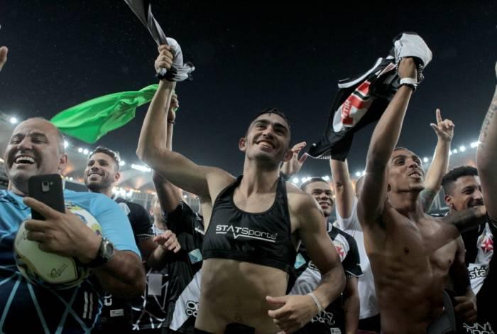 Após o apito final, os campeões extravasaram toda sua alegria