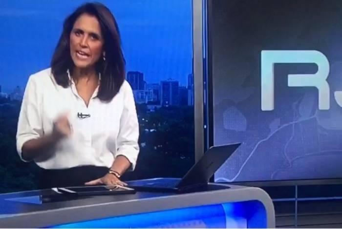 Ana Luíza Guimarães no 'RJ TV' 2ª Edição