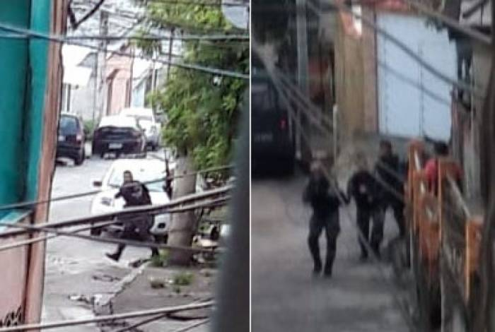 Agentes na operação do Complexo da Penha