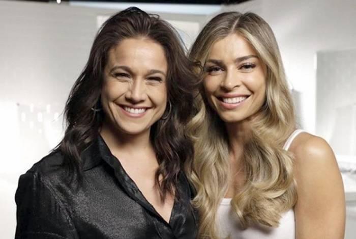 Fernanda Gentil e Grazi Massafera nos bastidores de campanha: 'gêmeas'
