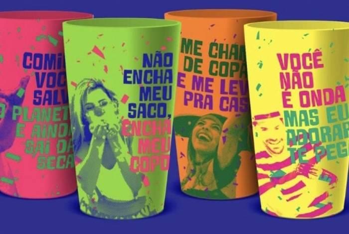 Copos retornáveis serão vendidos nas orlas de Ipanema e Leblon durante campanha ecológica