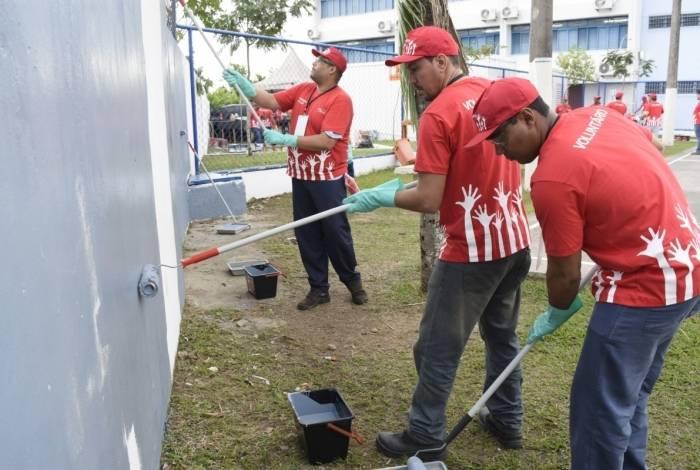 500 voluntários se reúnem para reformar escola pública em Santa Cruz esse fim de semana