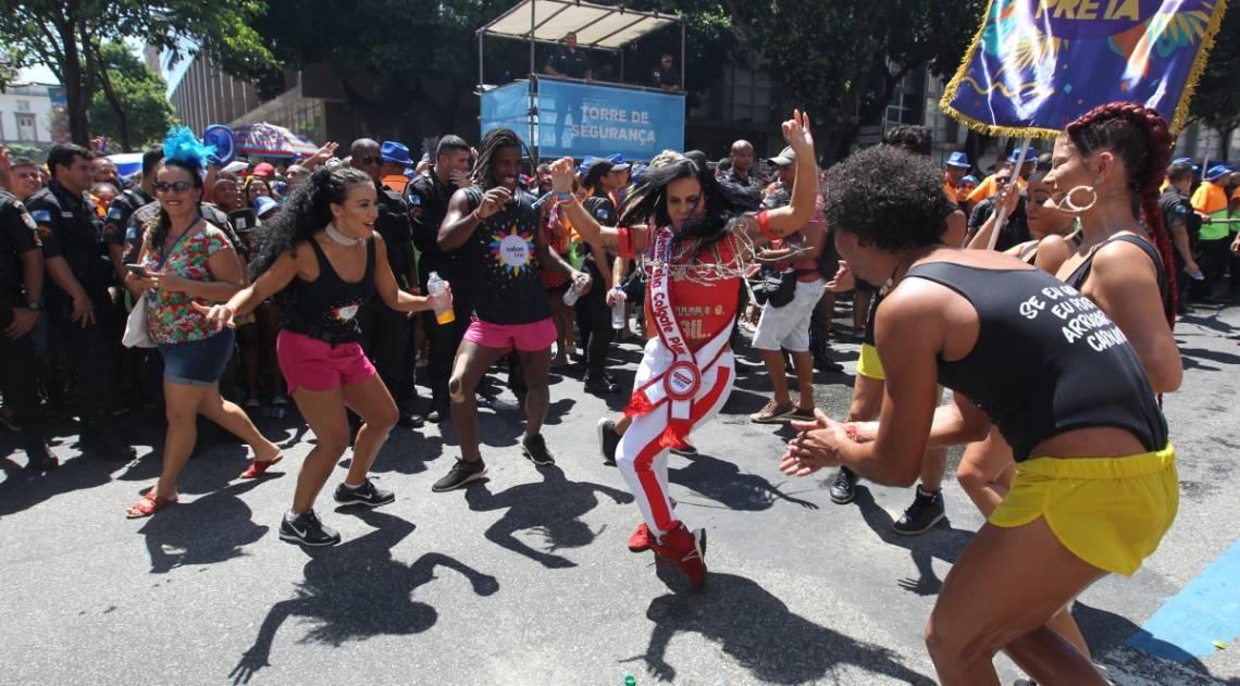 Bloco da Preta, no Centro do Rio