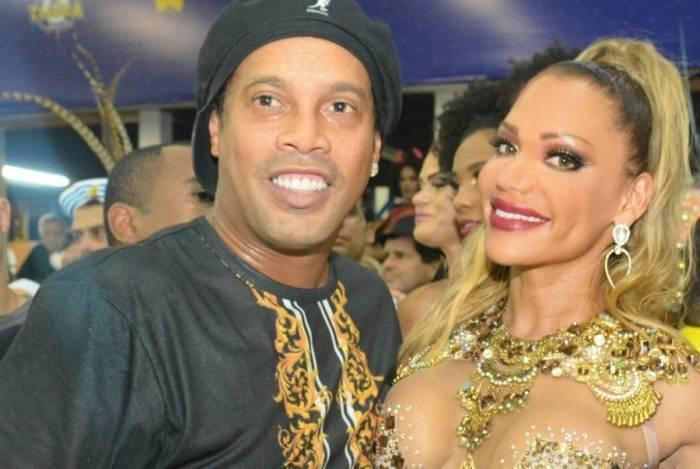 Ronaldinho Gaúcho e Ana Paula Evangelista