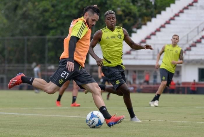 Treino do Flamengo na Gávea. Alexandre Vidal / Flamengo