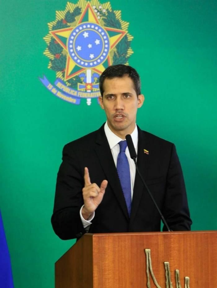 Juan Guaidó esteve em Brasília, no fim de fevereiro