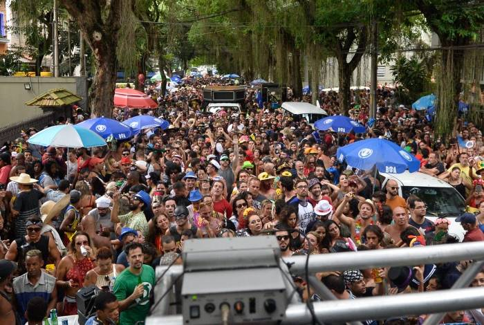 Bloco em Botafogo, na Zona Sul