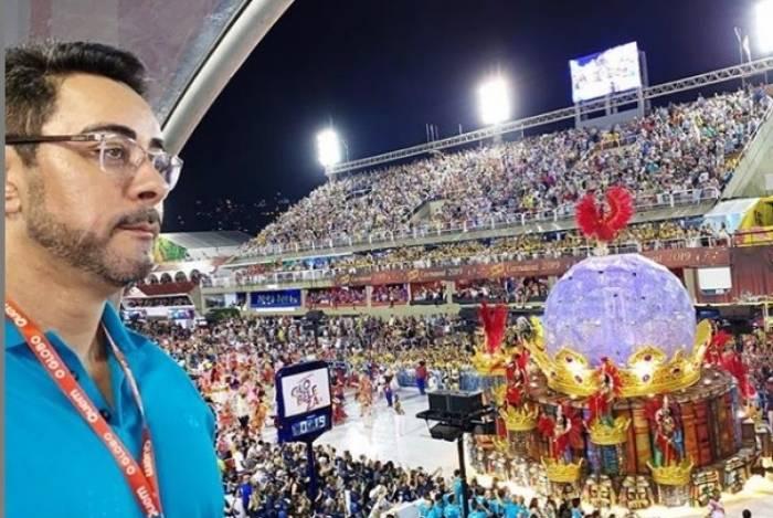 O juiz federal Marcelo Bretas curtiu o carnaval em camarotes, como o do governo do estado