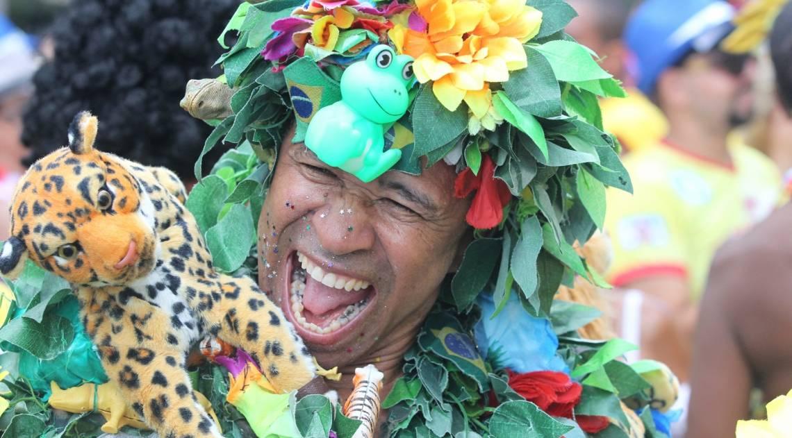Folião se diverte na Banda de Ipanema