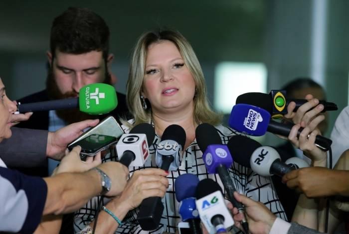 líder do governo no Congresso, deputada Joice Hasselmann (PSL-SP)